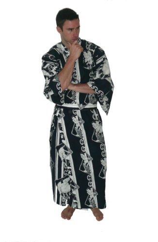 Japan Kimono, Mens cotton kimono,Sumo,Blue