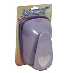 JAM Paper & Envelope Gige Heart 3 Inch Hole Punchers- sold individually