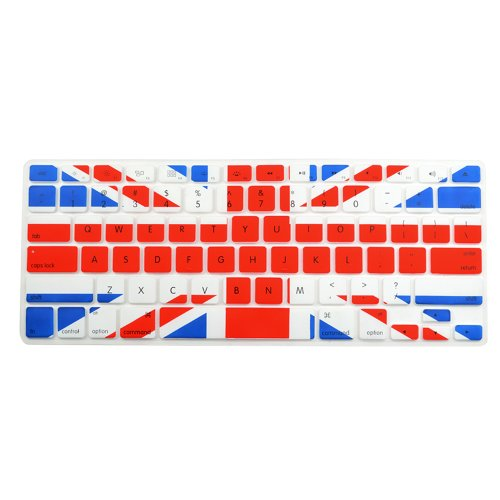 Case Star ® Uk Flag Pattern Soft Silicone Keyboard Cover Skin For Macbook 13-Inch Unibody/ Macbook Pro 13, 15, 17 Inches