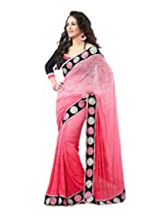 Indian Wear Light Pink Jacquard Net Embroidery