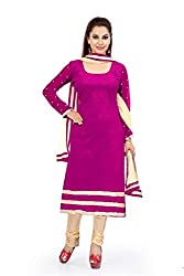 Pink Velvat embroidered Unstitched Dress Material