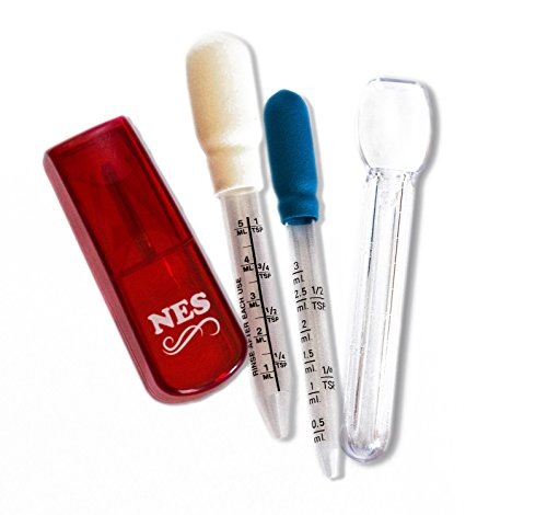 NES Medicine Droppers 5 ml/3 ml, Medicine Spoon & Pill Splitter - Medication Aids for Babies & Adults