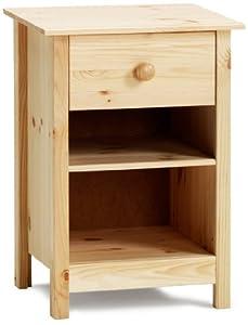 table de chevet ouverte 1 tiroir pin cuisine. Black Bedroom Furniture Sets. Home Design Ideas