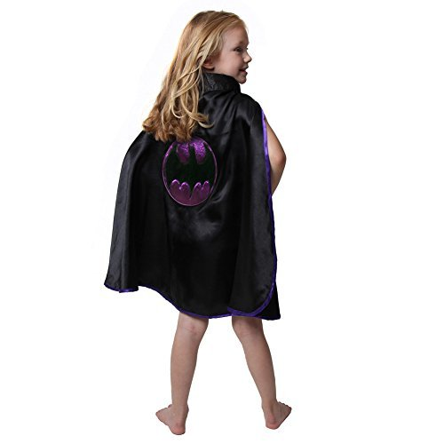 Kids Black & Purple Bat Cape