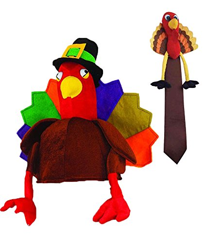 Thanksgiving Turkey Hat and Tie-Novelty Set