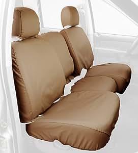 Covercraft Custom-Fit Rear-Second Seat Bench SeatSaver Seat Covers - Polycotton Fabric, Tan