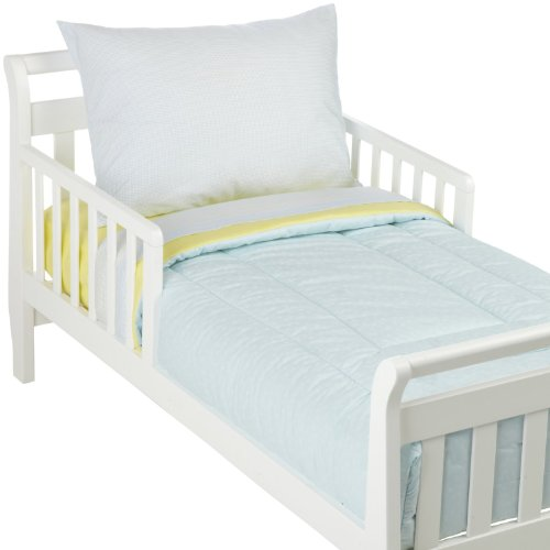 American Baby Company 1440 BM Percale Toddler Bed Set, 4-Piece (Blue/Maize)