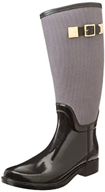 Ted Baker Women's Farvel Riding Boot,Black/Grey,5 M US