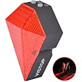 VISTOP BS-03 New Bicycle Cycling Laser Tail Light 8 LEDs and 2 Red Smart Laser - 3 Modes Mountain Bike Safety Warning Back Rear Led Red Light