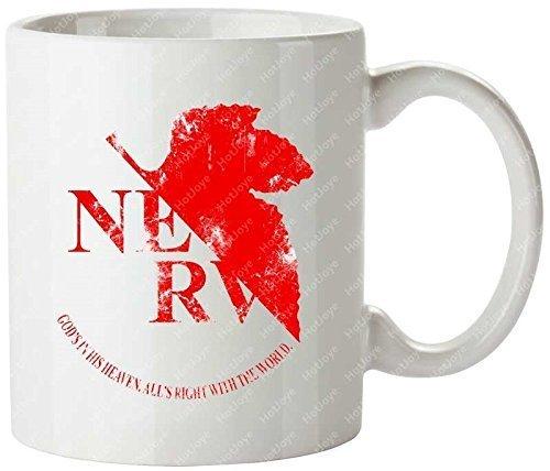 Grunged Nerv Logo Symbol Eva Evangelion Geek Cool Manga Anime Neon Genesis Evangelion Travel Mug Tea Cup by Hot Joye