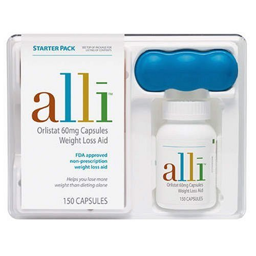 Alli Weight-Loss Aid, Orlistat 60mg Capsules, 150-Count Starter Pack