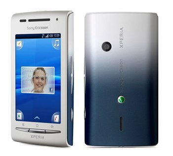 Sony Ericsson XPERIA X8 (E15i) Unlocked GSM Android Smartphone with 3MP Camera, Touchscreen, Wi-Fi, Bluetooth and GPS--International Version with No US Warranty (White/Dark Blue)