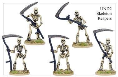 28mm Fantasy - Undead: Skeleton Reapers (5)