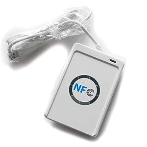 NFC RFID Reader / Writer ACR122U ISO 14443A/B +kostenlose Software in Weiß