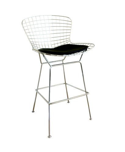 Astounding Baxton Studio Taddeo Mesh Bar Stool With Leatherette Seat Pdpeps Interior Chair Design Pdpepsorg