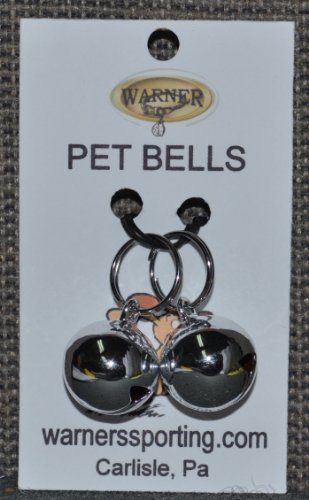 Picture Warner Small Silver Colored Steel Pet Bells for Dog / Cat Collar