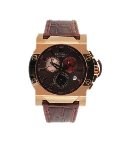 Régnier Dilys R1345 Men's Chronograph Watch 2041072 with Brown Leather Strap