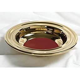 B & H Publishing Group 435724 Offering Plate-Brasstone-Stainless Steel with Red Felt, 12 in. by B & H Publishing Group