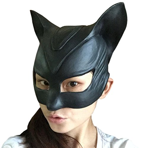 KingMas® Catwoman Latex Mask Halloween Lady Cosplay Costume Mask Prop