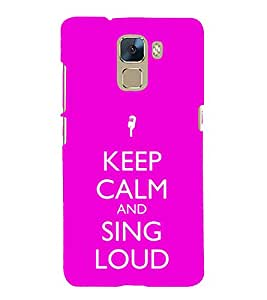 EPICCASE Sing loud Mobile Back Case Cover For Huawei Honor 7 (Designer Case)