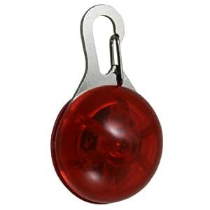Zehui LED Hundeanhänger Blinklicht Halsbänder Licht Tierhalsband Leuchtanhänger Anhänger Rot