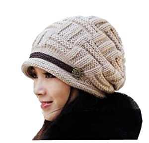hei uk beige beanie crochet hat fashion s