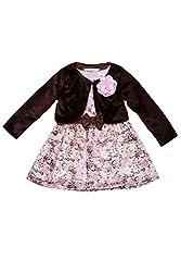 Soul Fairy Girls' Dress (CHRDRSSTN15B_Brown_7-8 Years)