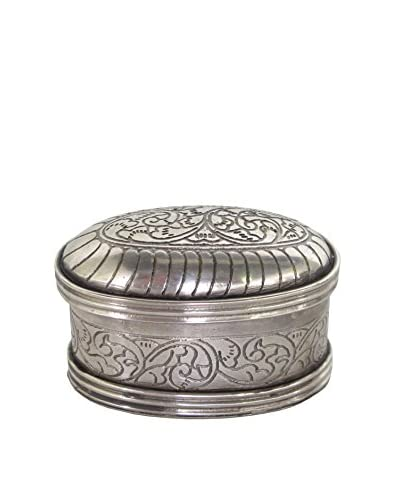 Blue Ocean Traders Oval Pill Box, Silver