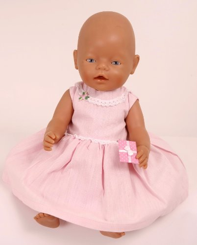 Pink Party Dress for small dolls and bears 14-18ins[35-45 cm]