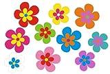 Autoaufkleber-Blumendesign-46-Stck-bunt-gemischt