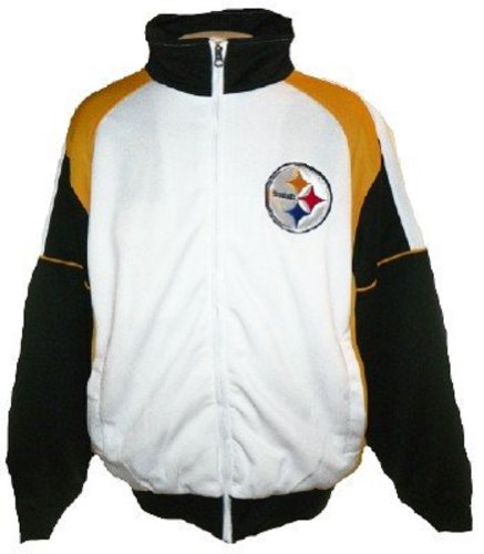 Pittsburgh Steelers NFL Team Logo Track Jacket (Medium) at Amazon.com