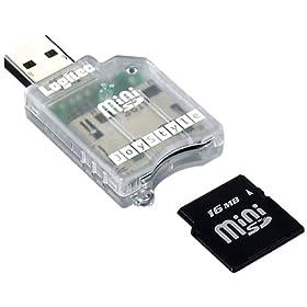 Logitec LMC-CAMINIU USB�ڑ�miniSD�Ή��J�[�h���[�_�[/���C�^