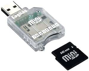 Logitec LMC-CAMINIU USB接続miniSD対応カードリーダー/ライタ