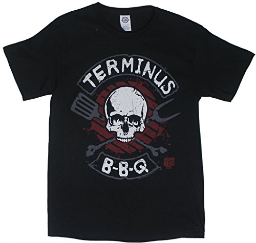 The Walking Dead Terminus BBQ Men's T-Shirt - Black (XX-Large) (Bbq Clothing compare prices)