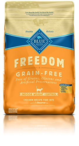 BLUE Buffalo Freedom Grain-Free Indoor Weight Control Chicken Recipe For Adult Cats