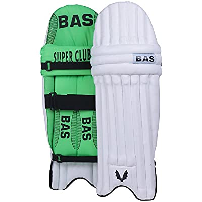 BAS Super Club Men's PVC Cricket Batting Pads (Size: Men, Green)