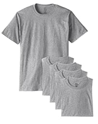 Fruit of the Loom Men\'s 5Pack Grey Cotton T-Shirts Undershirts Underwear, M