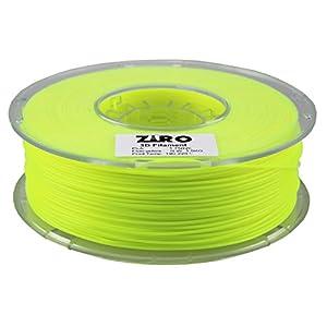 ZIRO 3D Printer Filament PLA 1.75 1KG(2.2lbs), Dimensional Accuracy +/- 0.05mm, Fluo yellow from ZIRO