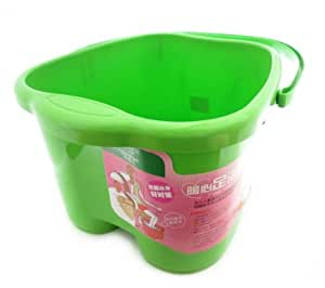 Green Foot Basin for Foot Bath, Soak, or Detox