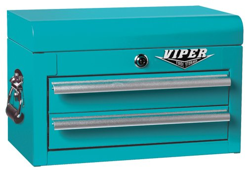Images for Viper Tool Storage V218MCTL 18-Inch 2-Drawer 18G Steel Mini Tool Chest, Teal