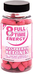 Full-time Energy Raspberry Ketones Plus Garcinia Cambogia And Green Coffee Bean Extract - Extreme Weight Loss Diet Pills - The Best Weight Loss Supplement That Works Fast For Women And Men from Full-Time