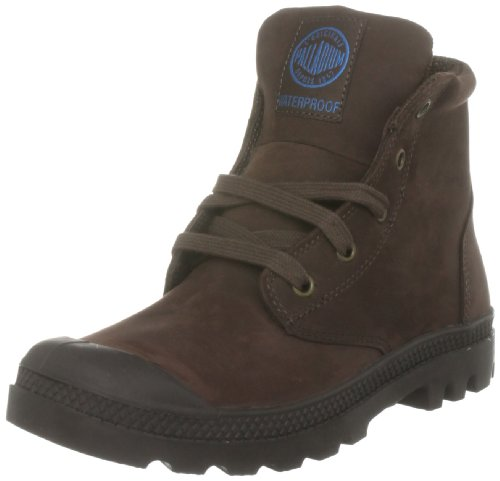 Palladium Women's Pampa Hi Lea Gusset Chocolate Walking Boot 92744-255-M 7 Uk