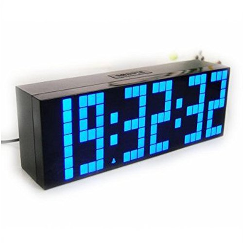 ECVISION Large Big Number Jumbo LED snooze wall desk Alarm clock count down timer with calendar (Countdown Timer Large compare prices)
