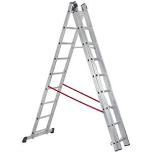 Echelle aluminium 3 pans 540 cm 9 barreaux 04681: Bricolage