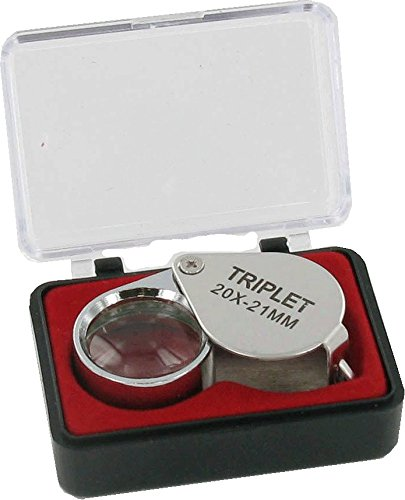 Jeweller's Triplet Magnifying Loupe 20 X 21mm Lens
