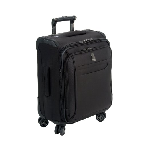 delsey luggage helium x 39 pert lite personal ultra light 4 wheel spinner tote black 18 inch. Black Bedroom Furniture Sets. Home Design Ideas
