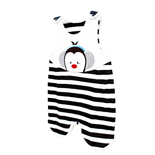 Cute Baby SleepSack 100% Cotton Wearable Blanket (6 Months, Blak)