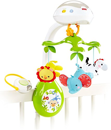 Fisher-Price Deluxe Projection Mobile, Rainforest Friends 3-in-1 (Baby Boys Mobile compare prices)