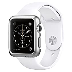 Spigen Apple Watch (SERIES 1) Case/cover   (APPLE WATCH NOT INCLUDED) (38mm) (SMALLER VERSION) Thin Fit (Satin Silver) SGP11489