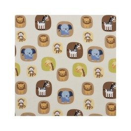 Tiddliwinks Fitted Crib Sheet- Jungle Friends